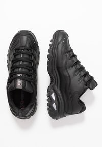 Skechers Wide Fit - WIDE FIT ENERGY - Trainers - black smooth - 3