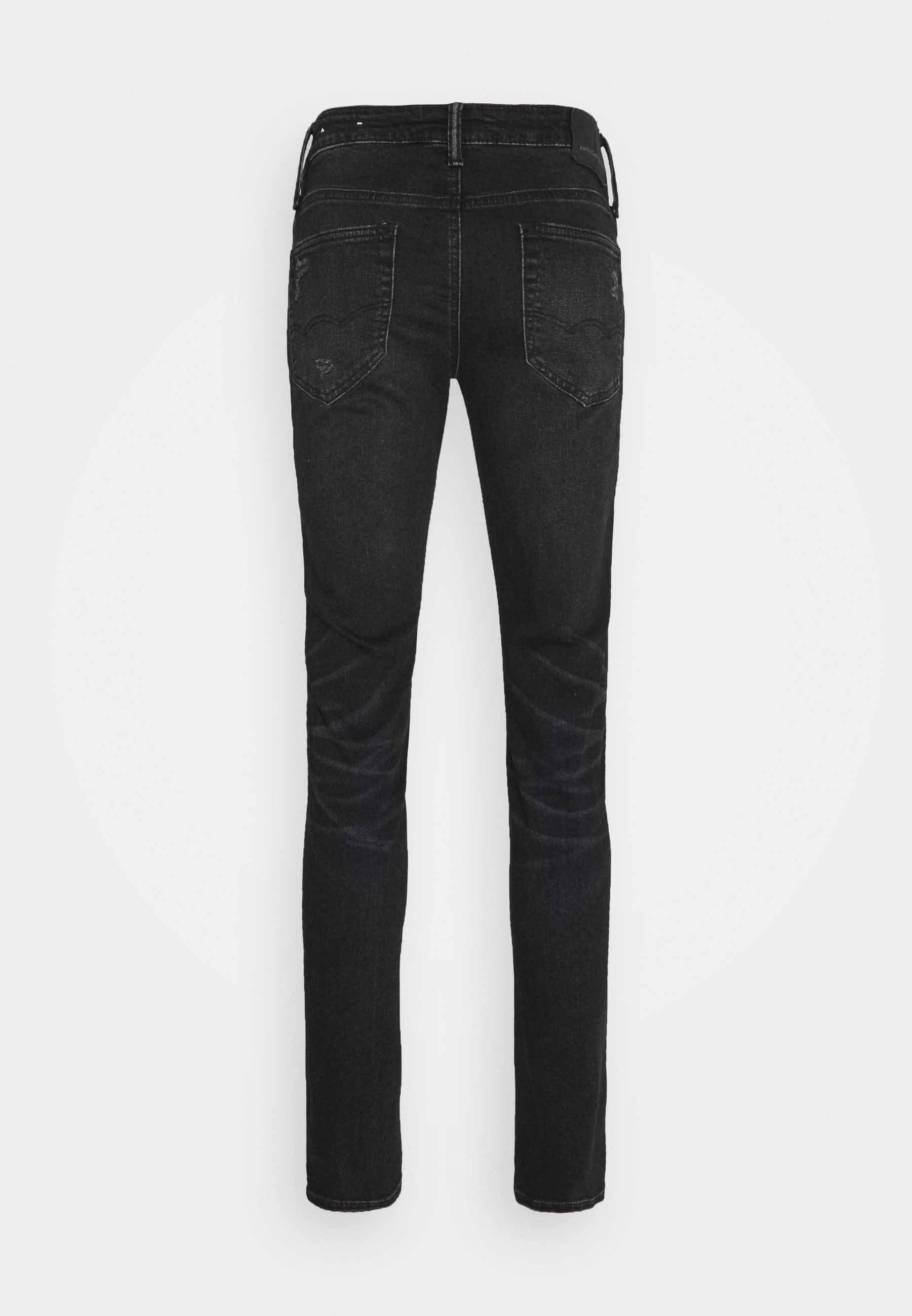 Men BLACK MENDED  - Slim fit jeans