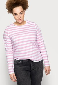Pieces Curve - PCRIA NEW TEE - Long sleeved top - bright white/pastel lavender - 3
