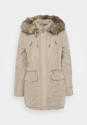 HOODED - Winter coat - stone