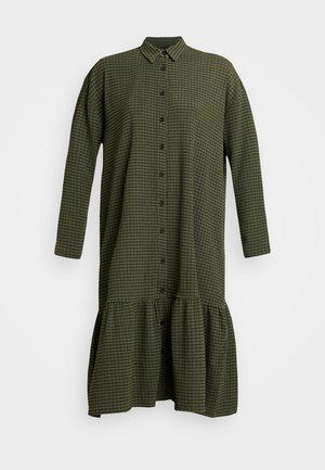 YASCHECKIE DRESS - Shirt dress - olive night