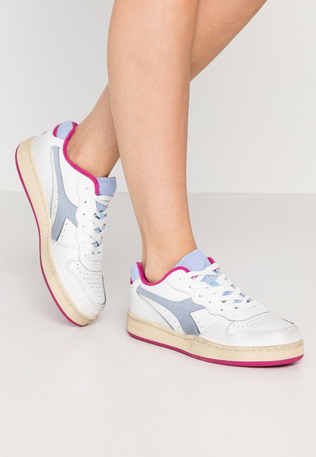 BASKET USED  - Sneakers basse - azzurro polvere/rosa magenta