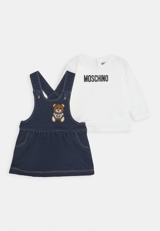 SET - Denimové šaty - blue navy