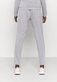 adidas Performance - COLORBLOCK - Tracksuit - ambient blush/medium grey heather/white - 4