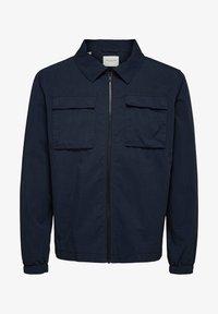 SLHNILES - Lehká bunda - mottled dark blue