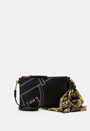 CROSSBODY FLATCUCITURE PRINT - Schoudertas - nero