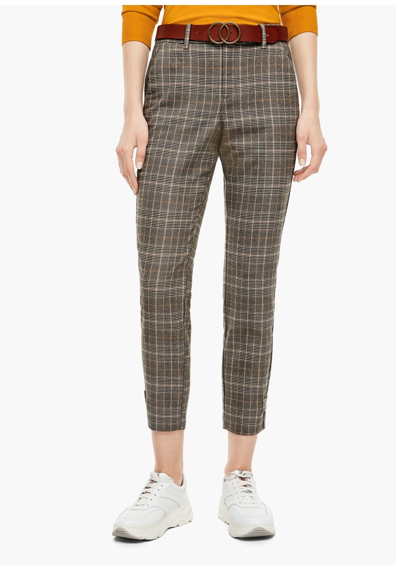 s.Oliver - Trousers - brown check