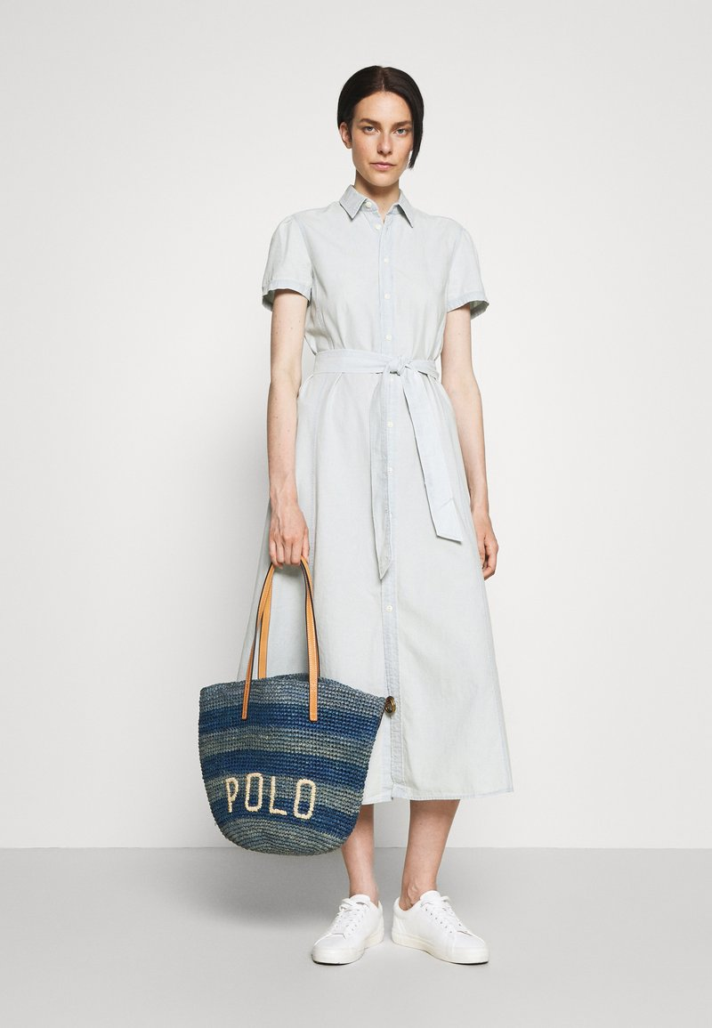 Polo Ralph Lauren - STRIPES - Tote bag - blue/multi