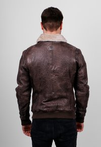 Freaky Nation - Leather jacket - dark brown - 2