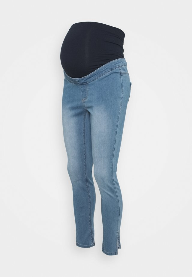 MATERNITY SPLIT VICE - Skinny džíny - blue