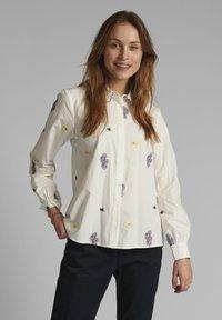 Nümph - NUCLOVE - Button-down blouse - bright white - 0