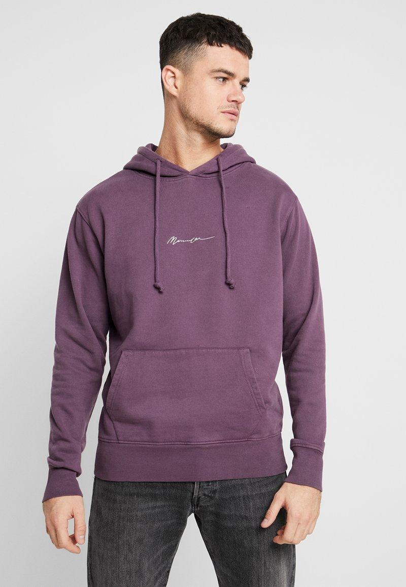 Mennace - ESSENTIAL SIG HOODIE UNISEX - Hoodie - purple