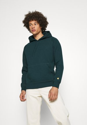 HOODED CHASE  - Sweat à capuche - frasier/gold
