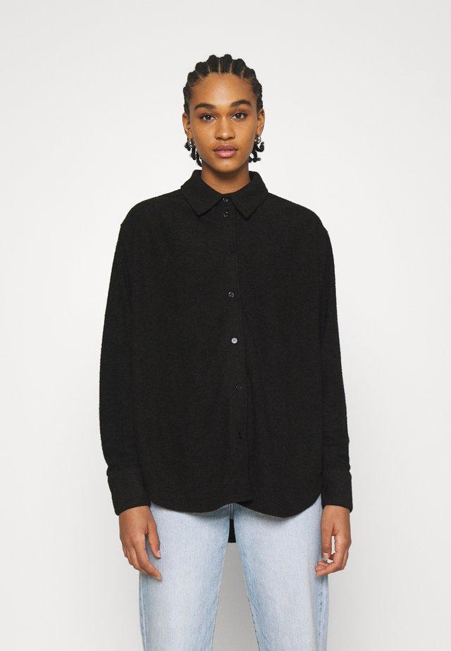 EDYN TOWELLING - Camicia - black