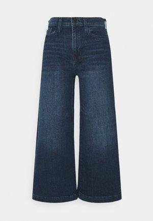 CROP WIDE TROUSER  - Trousers - dark wash