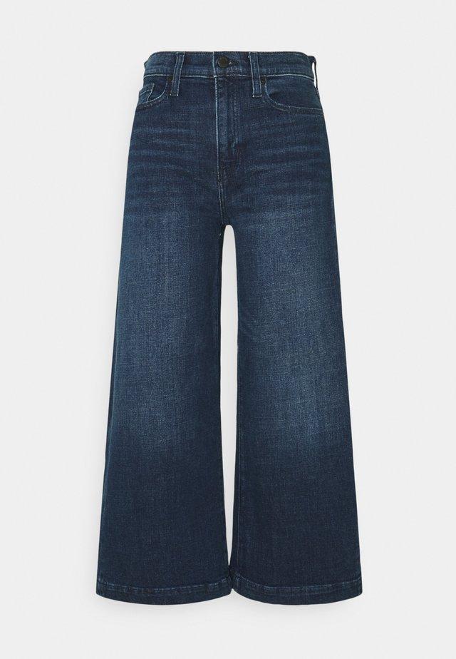CROP WIDE TROUSER  - Pantaloni - dark wash