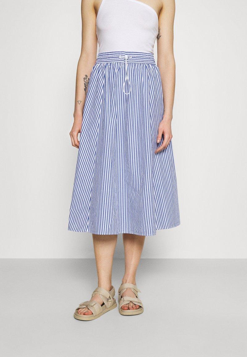 Monki - A-line skirt - blue/bright