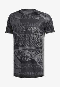 adidas Performance - OWN THE RUN GRAPHIC T-SHIRT - Triko spotiskem - grey/black - 8