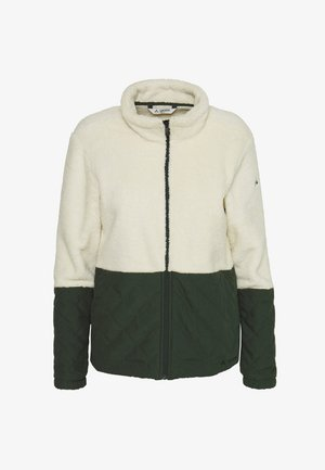 WOMENS MANUKAU JACKET - Fleece jacket - ecru