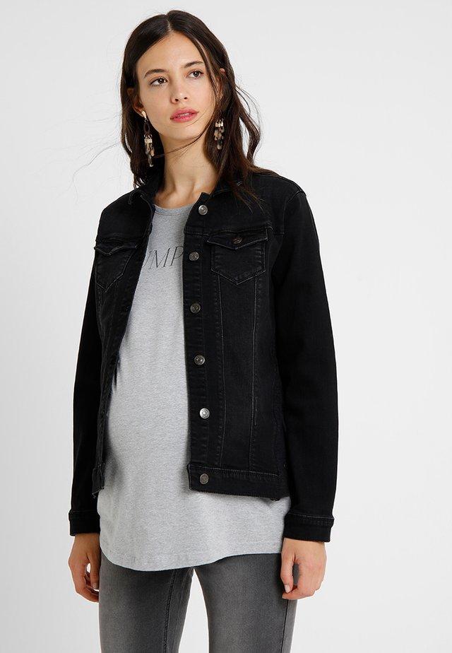 Denim jacket - black dark wash