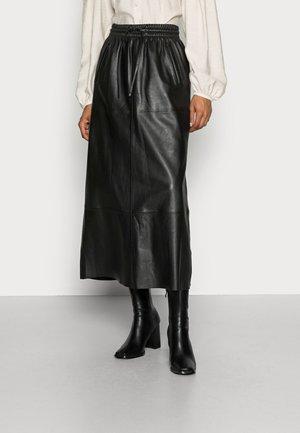 ALABAMA - Leather skirt - black