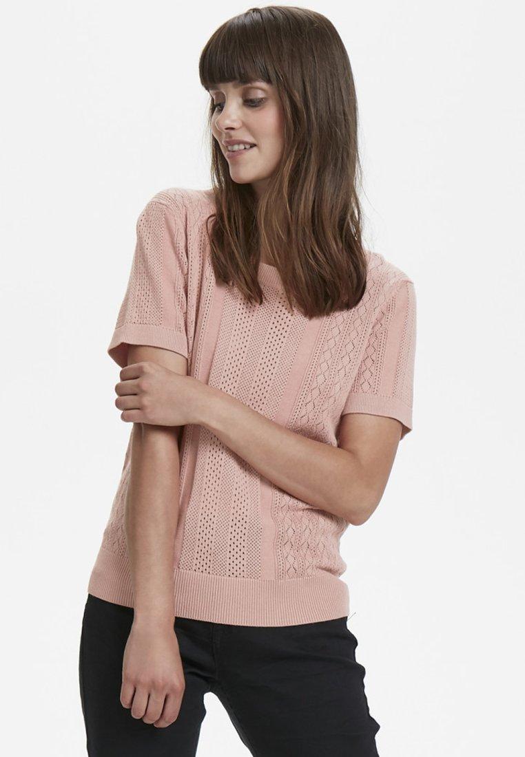Cream - Print T-shirt - rose dawn