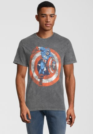 MARVEL CAPTAIN AMERICA SHIELD - Print T-shirt - grau