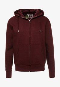 Solid - MORGAN - Zip-up sweatshirt - wine - 4