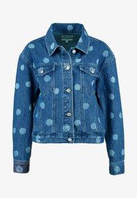 Madewell - BOXY CROPPED JACKET WITH POLKA DOTS - Denim jacket - indigo - 4