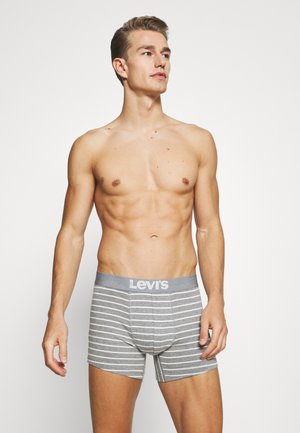 VINTAGE STRIPE BOXER BRIEF 4 PACK - Boxerky - middle grey melange