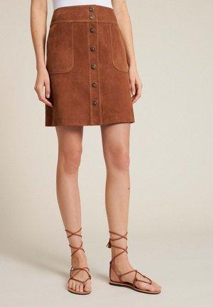 TISANA - A-line skirt - tabacco