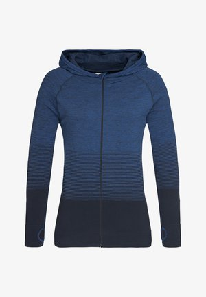 Zip-up hoodie - blue transition