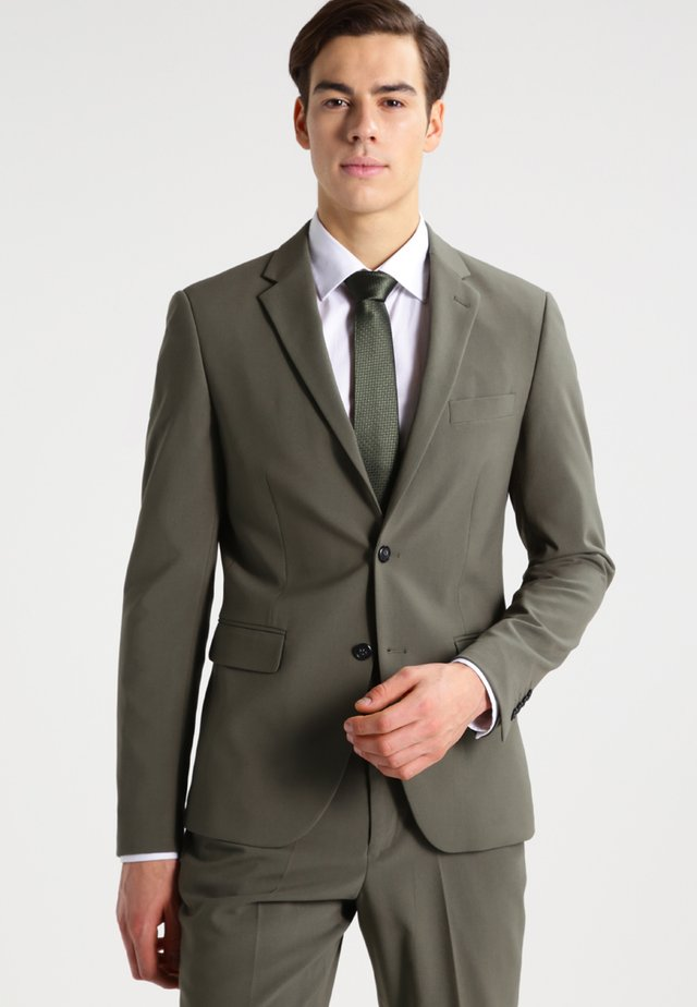 PLAIN MENS SUIT - Garnitur - light army