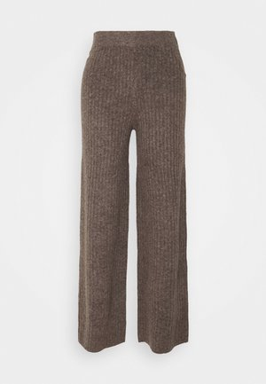 NMSALLY LOOSE PANT - Trousers - taupe gray