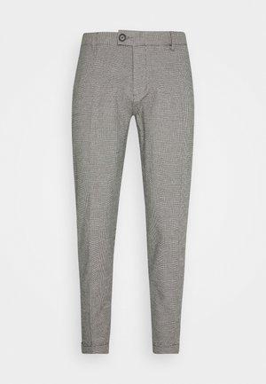 ERCAN PANTS - Stoffhose - grey check