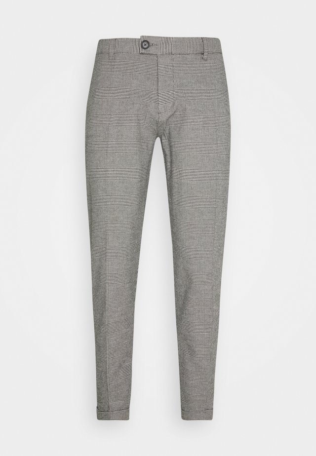ERCAN PANTS - Pantaloni - grey check