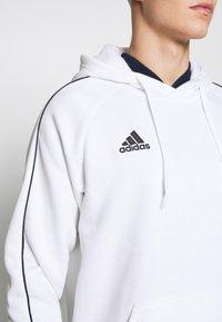 adidas Performance - CORE ELEVEN FOOTBALL HODDIE SWEAT - Felpa con cappuccio - white - 5