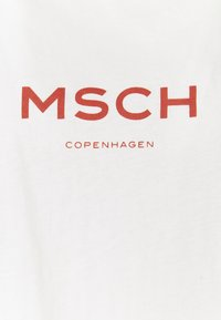 Moss Copenhagen - NANETTE ALVA LOGO TEE - Print T-shirt - egret/barn red - 2
