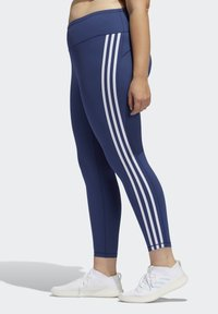 adidas Performance - BELIEVE THIS 3-STRIPES 7/8 LEGGINGS - Tights - blue - 3