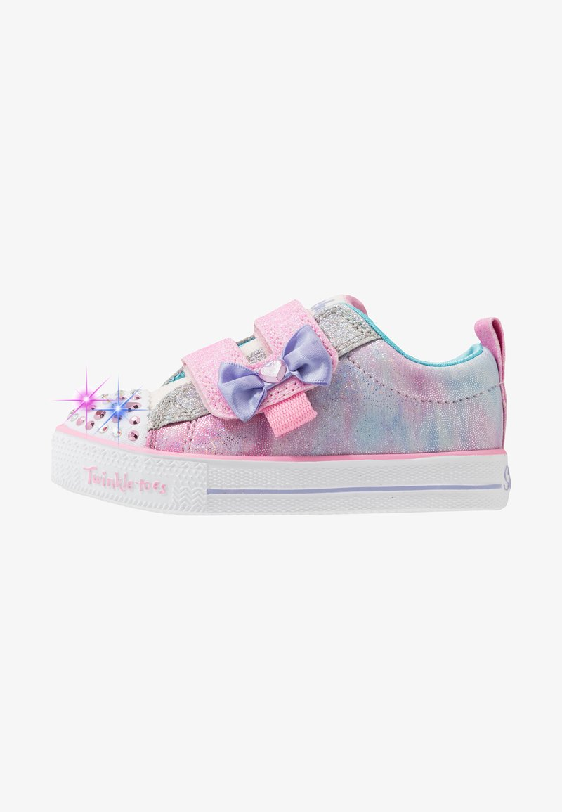 Skechers - SHUFFLE LITES - Tenisky - light pink/turquoise/silver