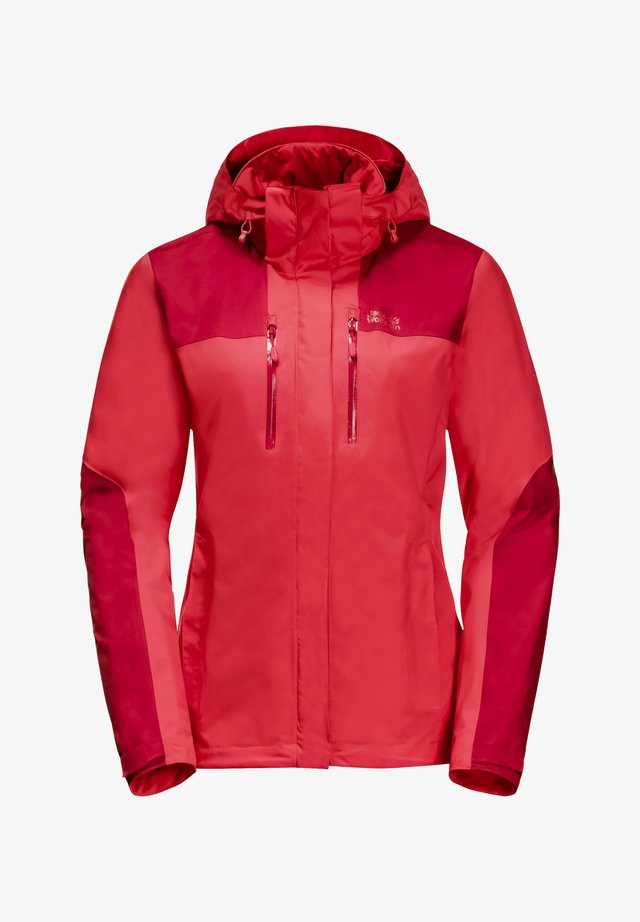 JASPER JKT W - Waterproof jacket - tulip red