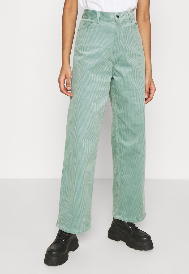 Weekday - LASHES TROUSERS - Pantaloni - petrol