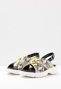 Högl - Platform sandals - multicolor/limone - 4