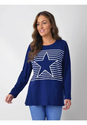 STRIPE STAR TEE - Printtipaita - dark blue