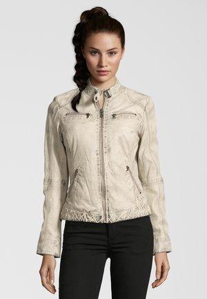 DIANA - Leather jacket - stone