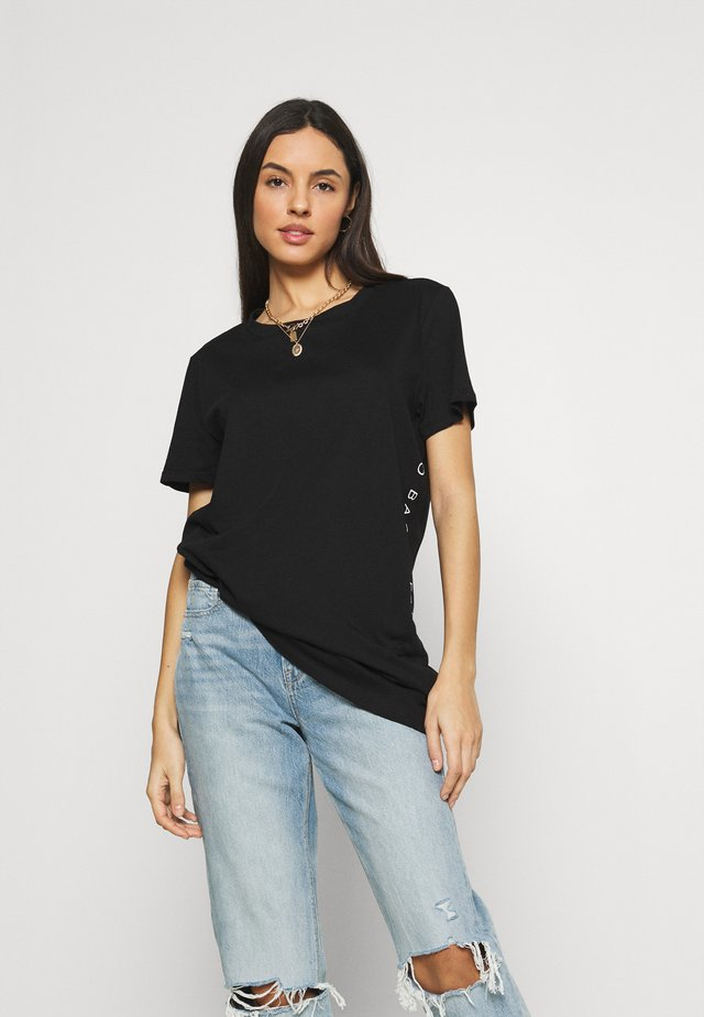 NMZODIAC SLOGAN  - T-shirt con stampa - black