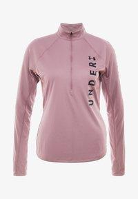 Under Armour - SPEED STRIDE SPLIT WORDMARK HALF ZIP - Sports shirt - hushed pink/black - 4