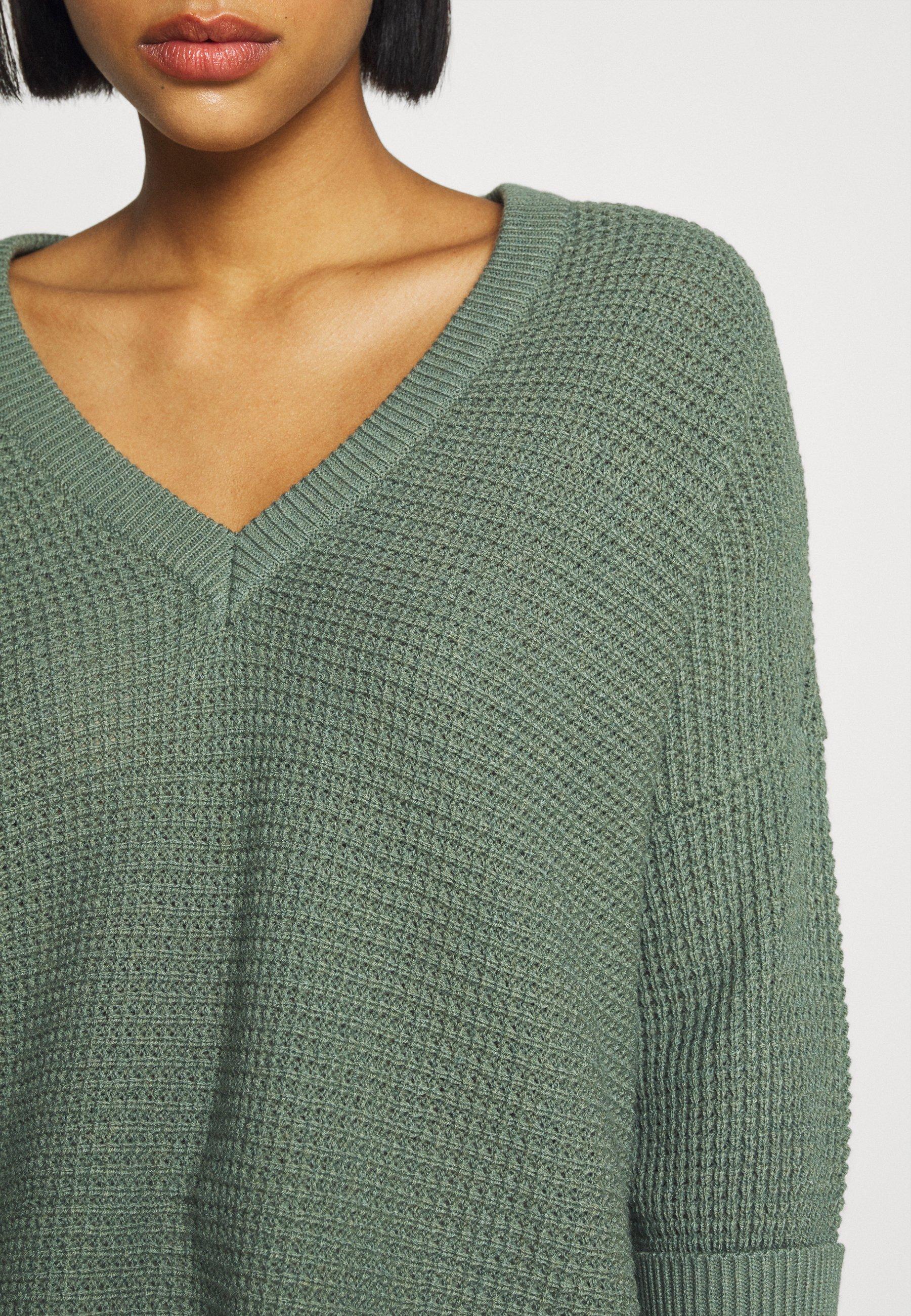 Femme VMLEANNA V NECK LONG - Pullover