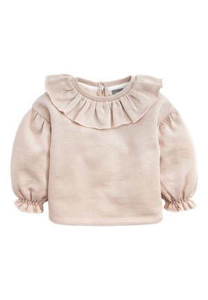 PINK SPARKLE PUFF SLEEVE COLLAR - Jumper - pink