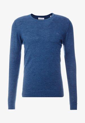 ONECK - Stickad tröja - mid blue mix